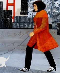 Walking_the_Dog_in_the_City_20x24_Mixed_media_on_canvas web