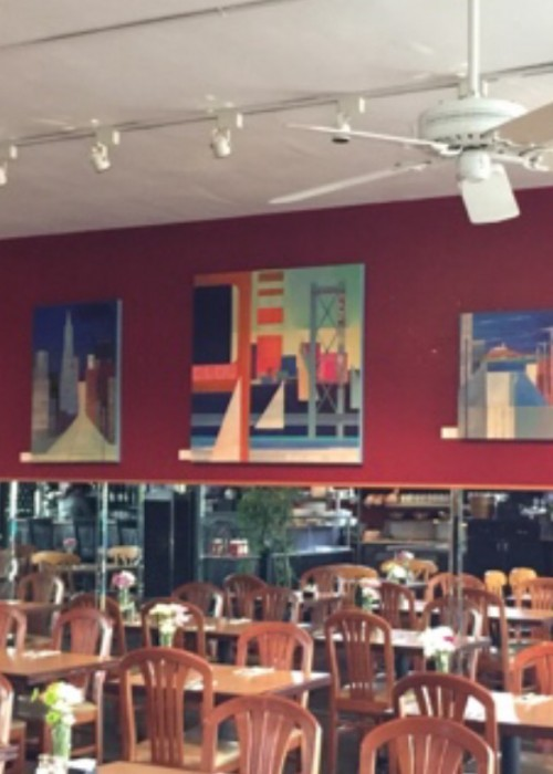 Abstract Cityscapes at Mike's Cafe
